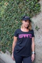 EARND women tee pink logo Dee