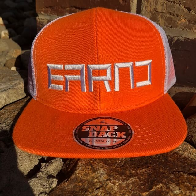 Orange EARND Youth snapback